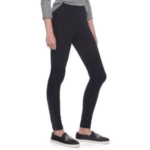 Madewell | pieced pointe black leggings